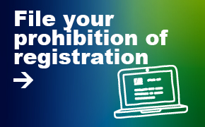 File your prohibition of registration